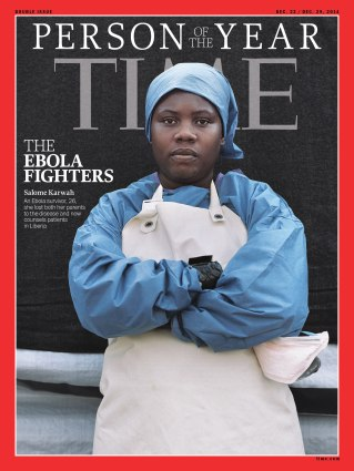 TIME Person of the Year 2014 Magazine Cover: The Ebola Fighters 141222
